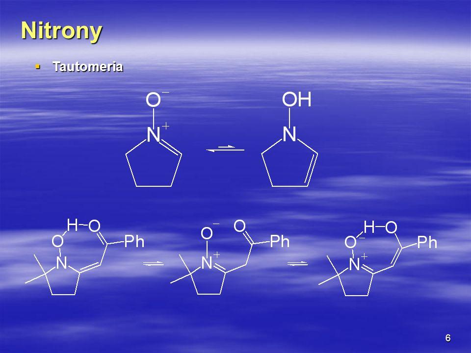 Nitrony Tautomeria