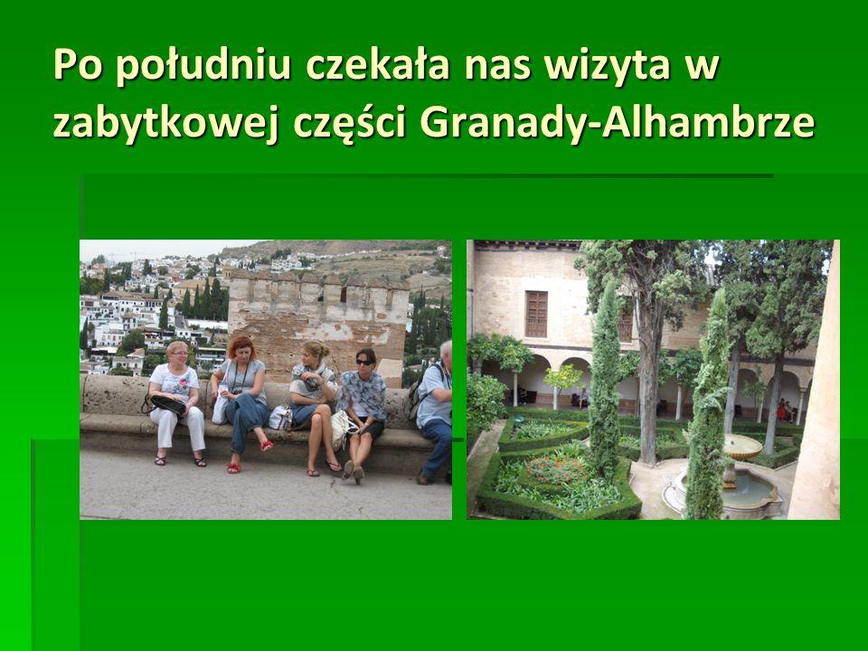 Po południu czekała nas wizyta w zabytkowej części Granady-Alhambrze