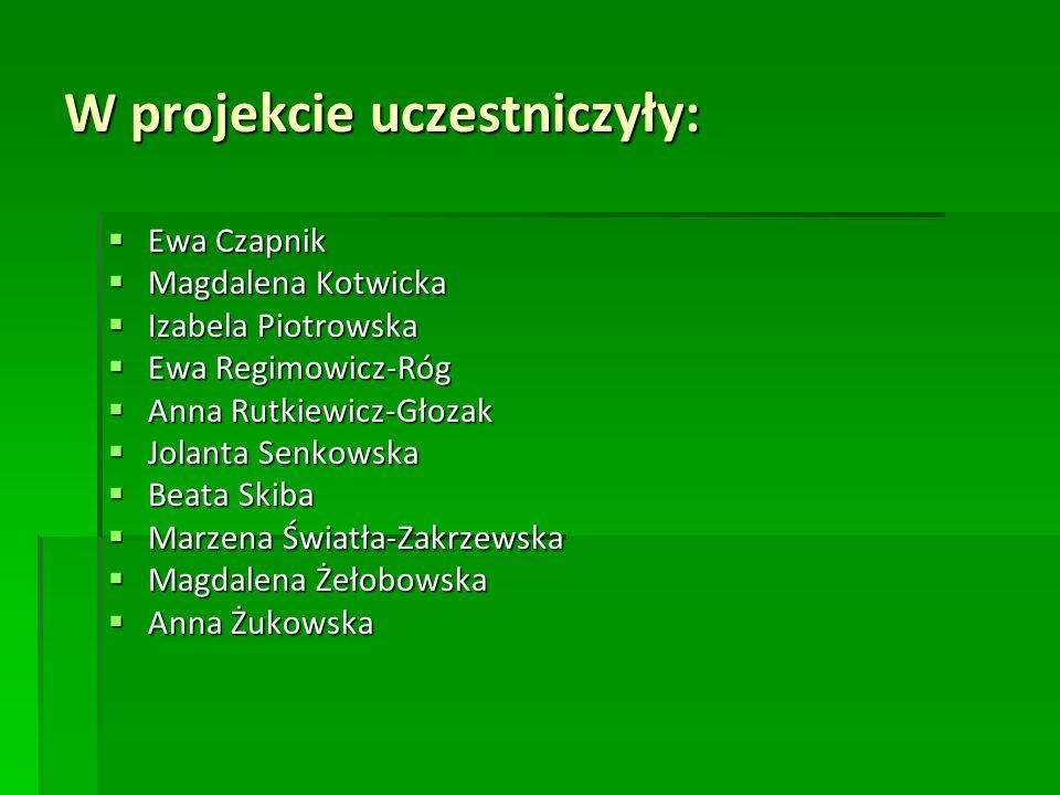 W projekcie uczestniczyły: