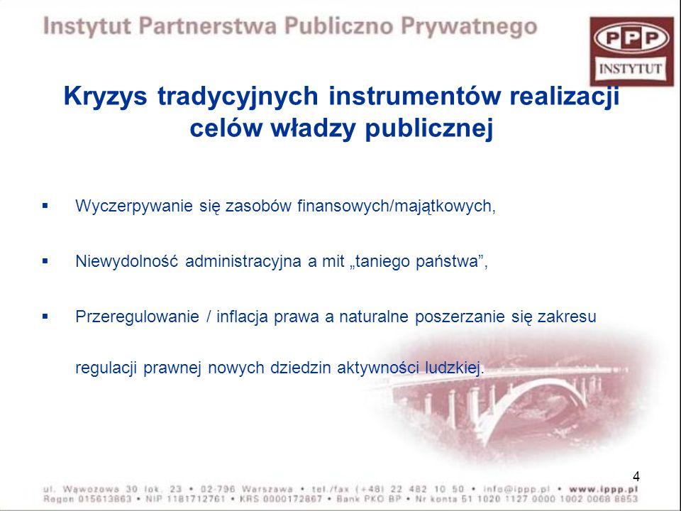 Kryzys tradycyjnych instrumentów realizacji celów władzy publicznej