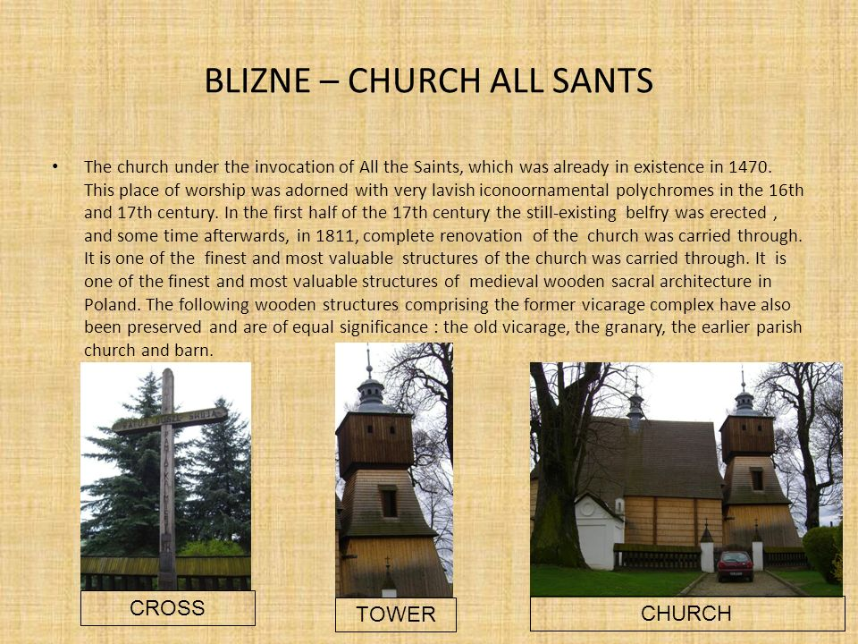 BLIZNE – CHURCH ALL SANTS