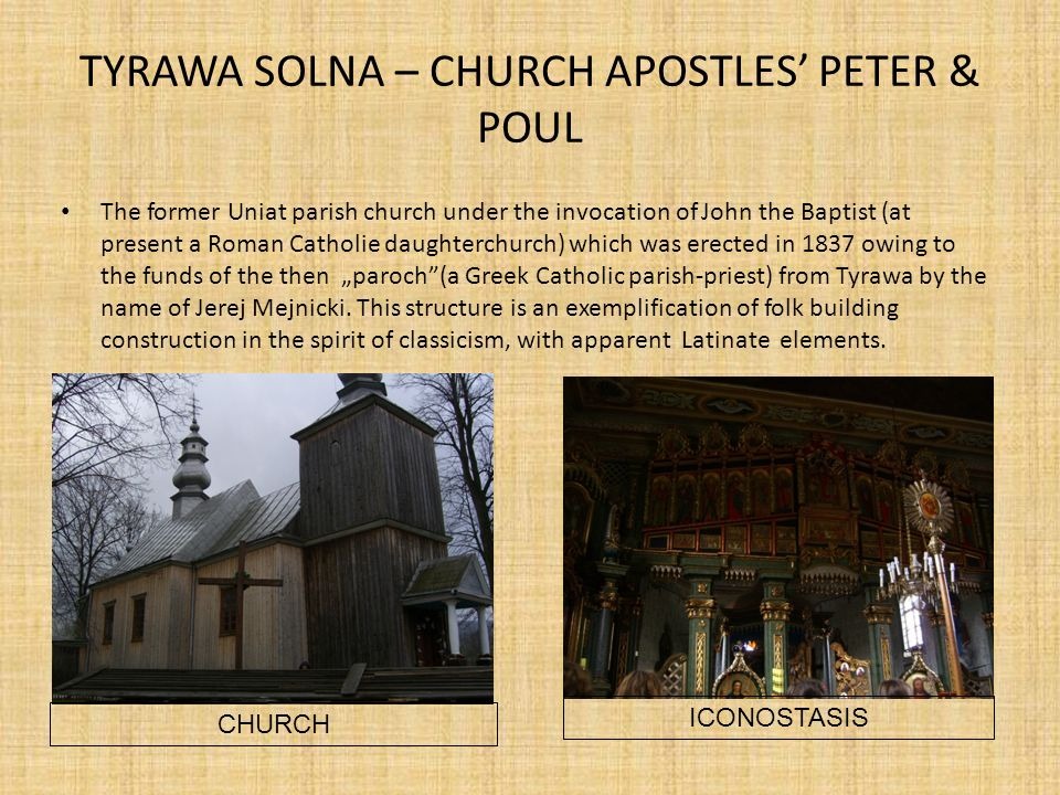 TYRAWA SOLNA – CHURCH APOSTLES' PETER & POUL
