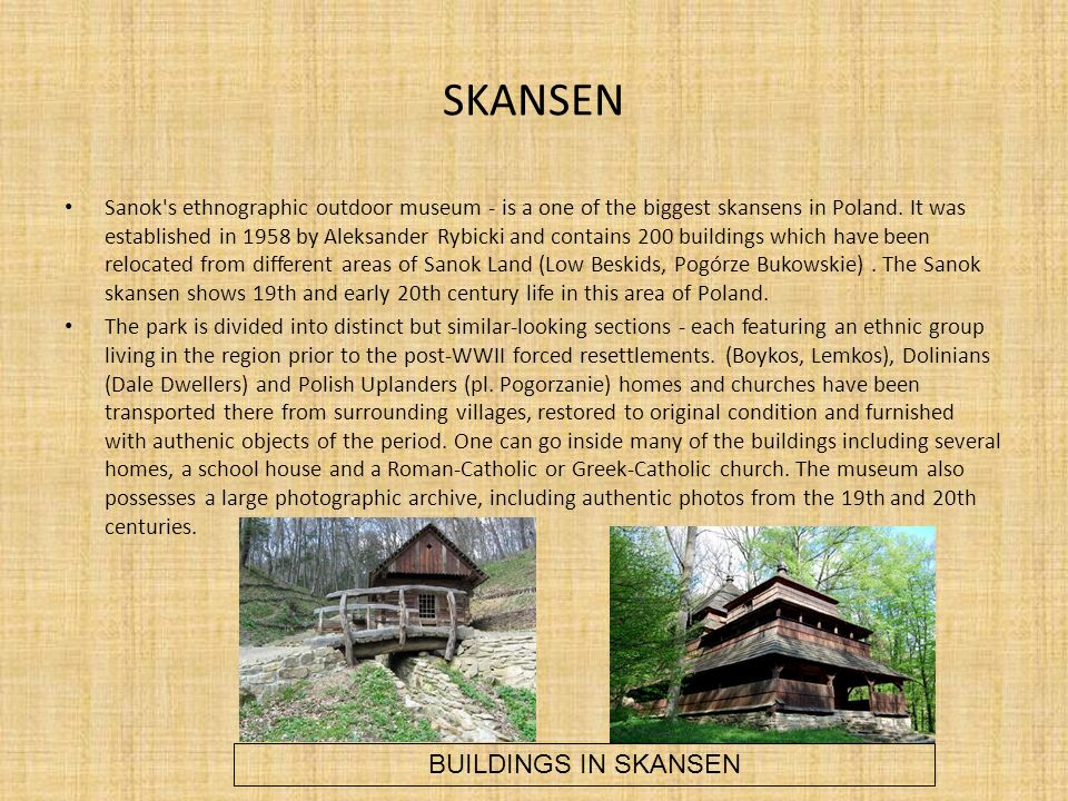 SKANSEN BUILDINGS IN SKANSEN