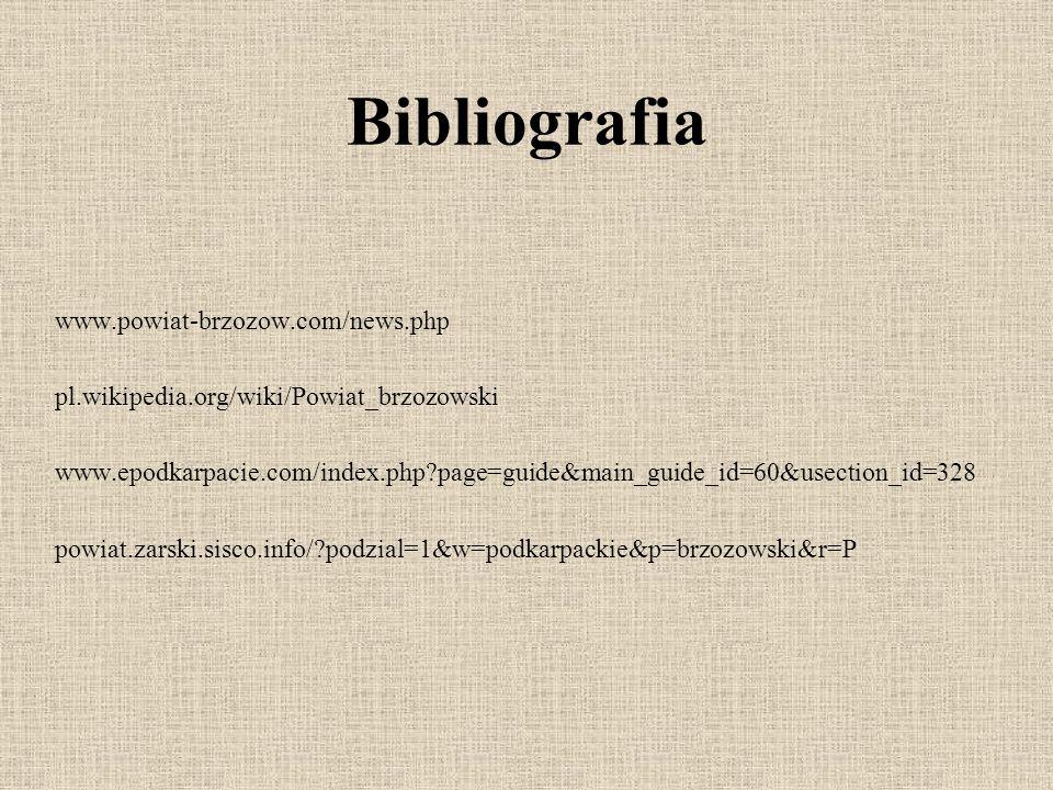 Bibliografia www.powiat-brzozow.com/news.php