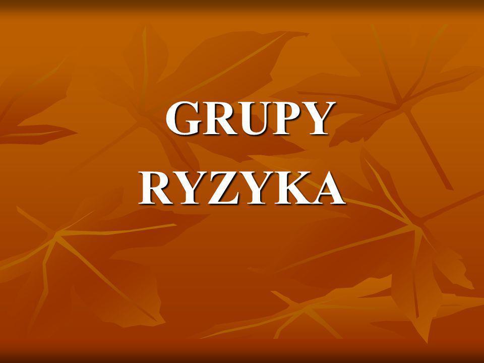GRUPY RYZYKA