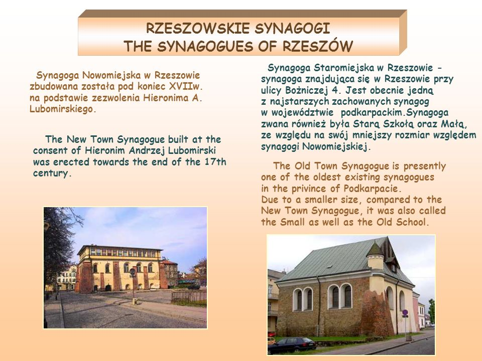 THE SYNAGOGUES OF RZESZÓW