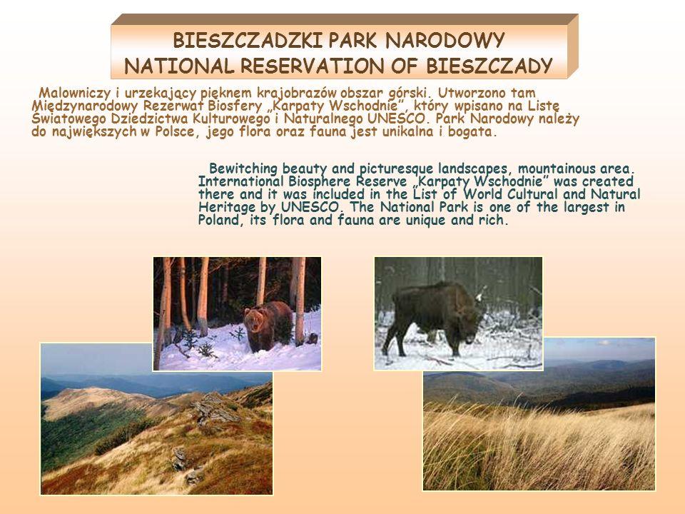 BIESZCZADZKI PARK NARODOWY NATIONAL RESERVATION OF BIESZCZADY