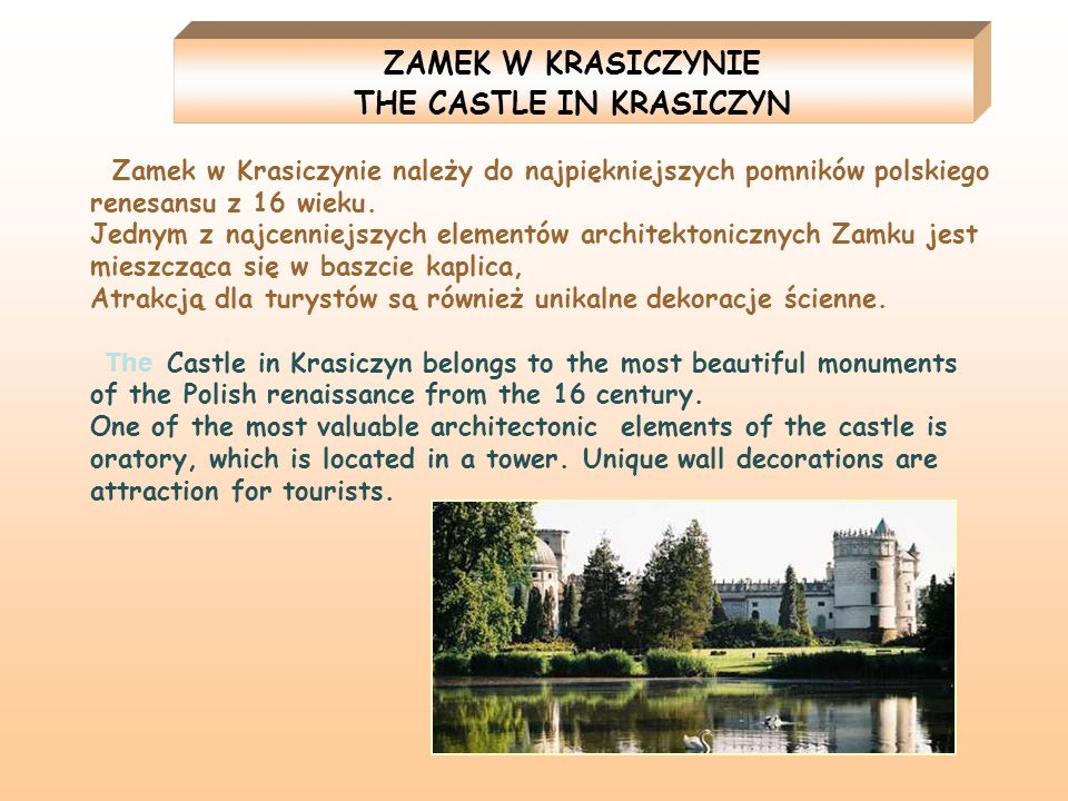 THE CASTLE IN KRASICZYN