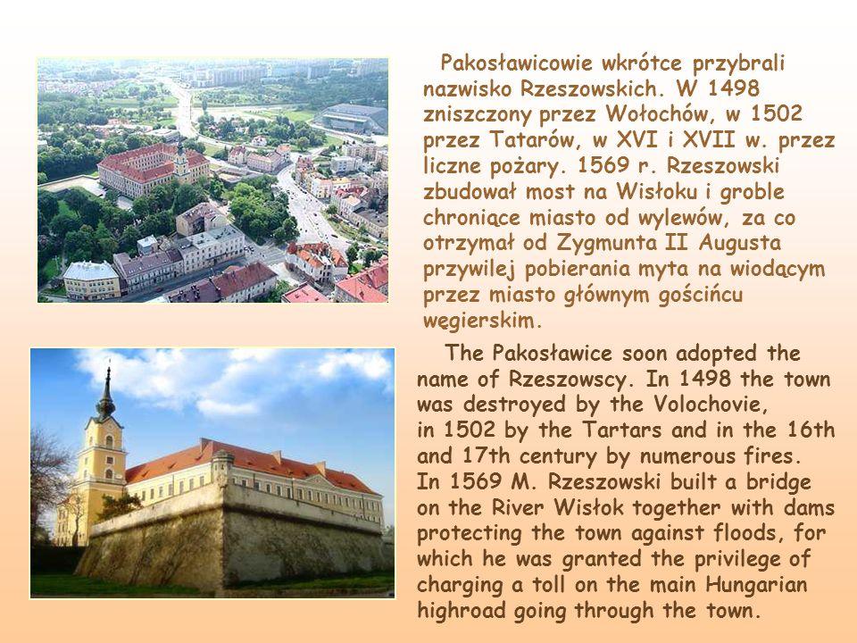 Pakosławicowie wkrótce przybrali nazwisko Rzeszowskich