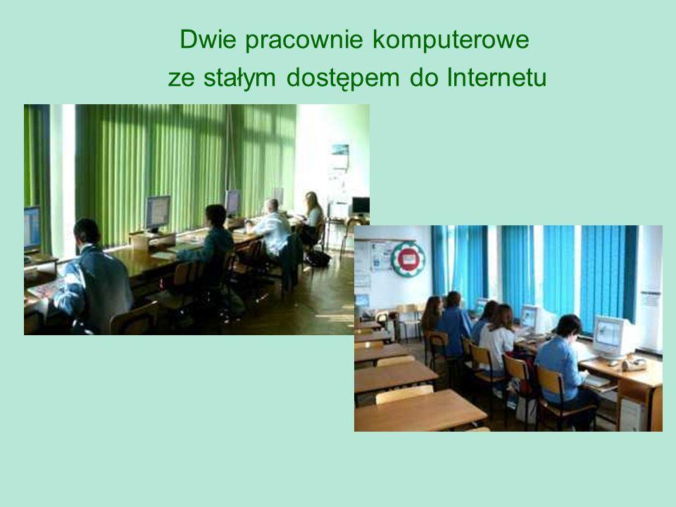 Dwie pracownie komputerowe ze stałym dostępem do Internetu