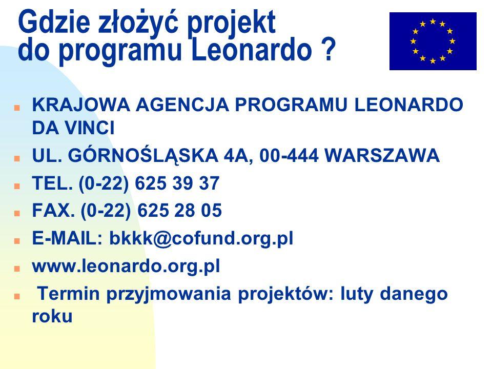 Gdzie złożyć projekt do programu Leonardo