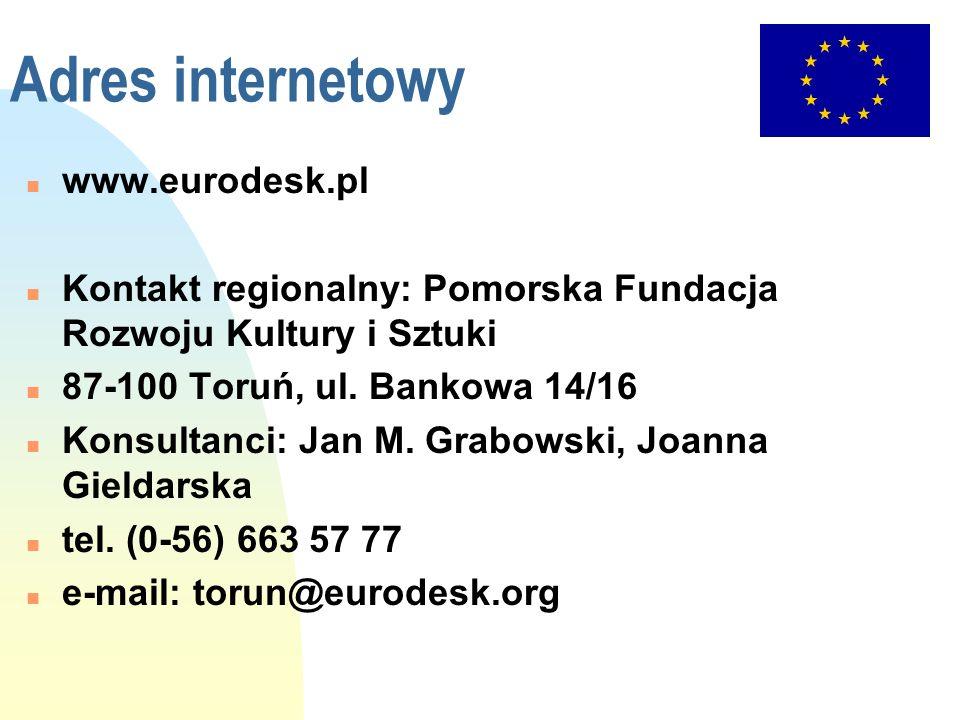 Adres internetowy www.eurodesk.pl