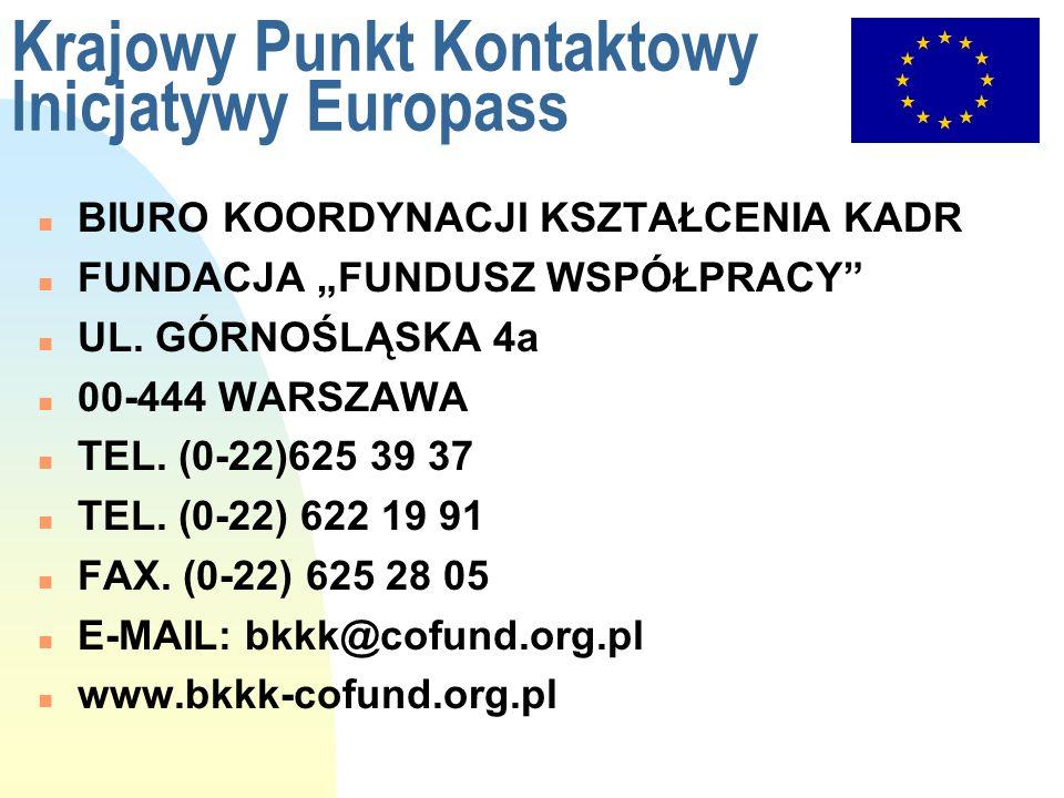 Krajowy Punkt Kontaktowy Inicjatywy Europass