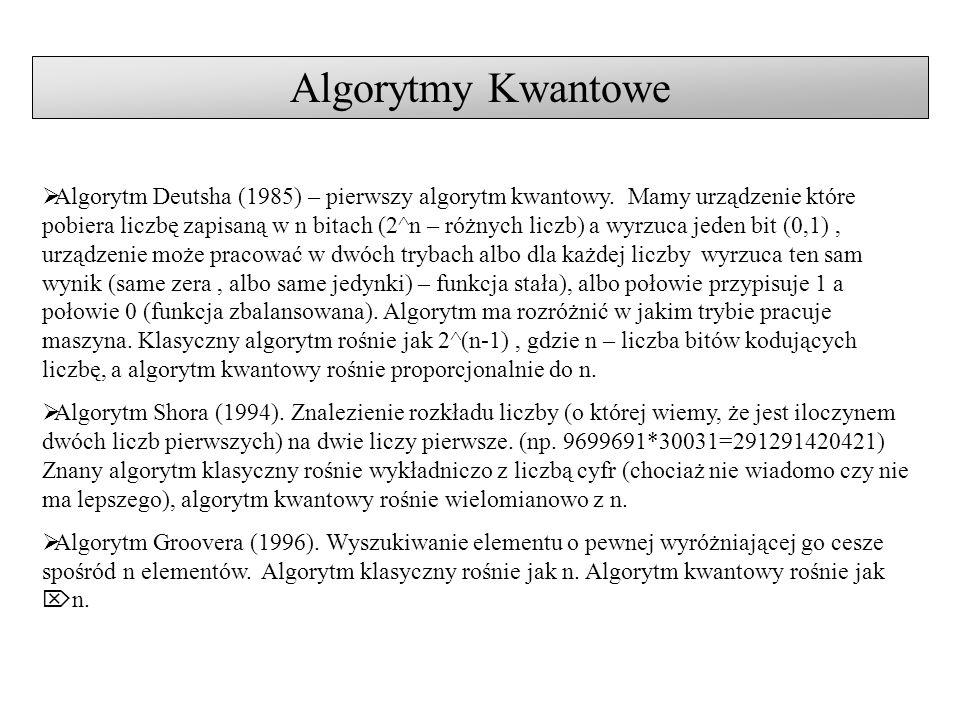 Algorytmy Kwantowe