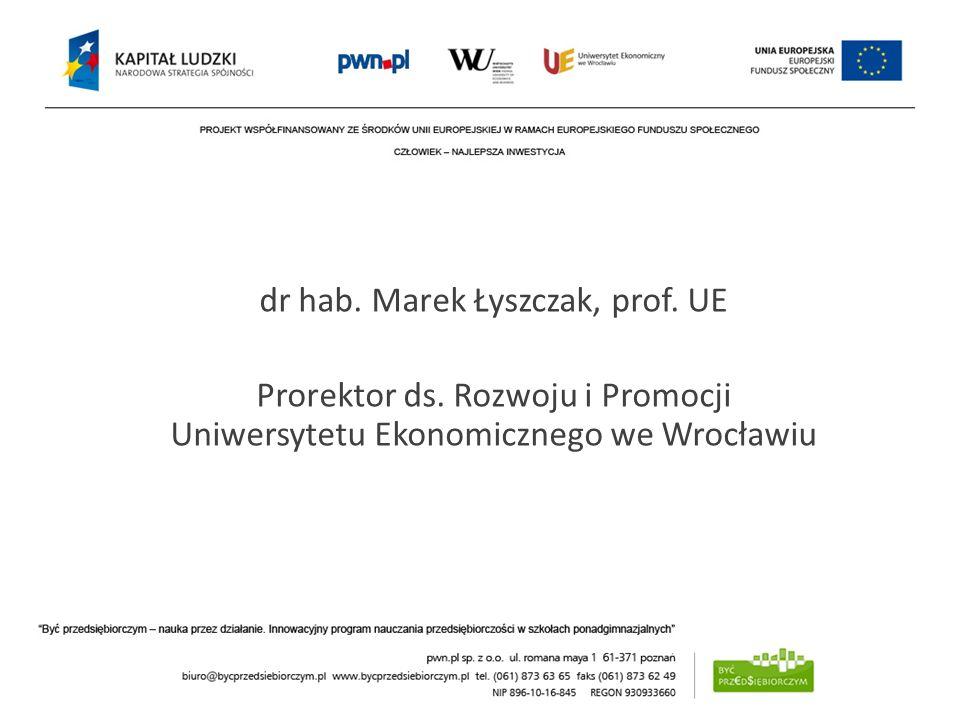 dr hab. Marek Łyszczak, prof. UE