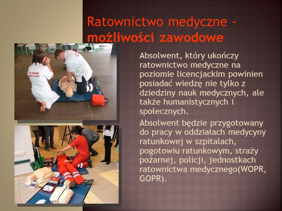 Ratownictwo medyczne - możliwości zawodowe