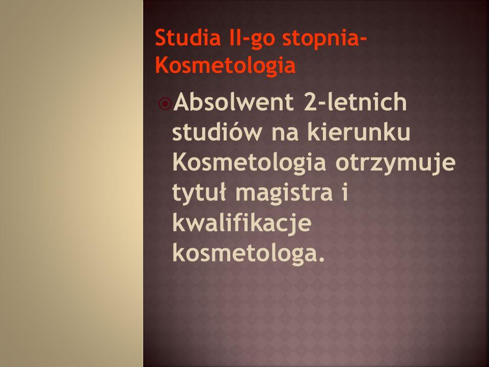 Studia II-go stopnia- Kosmetologia