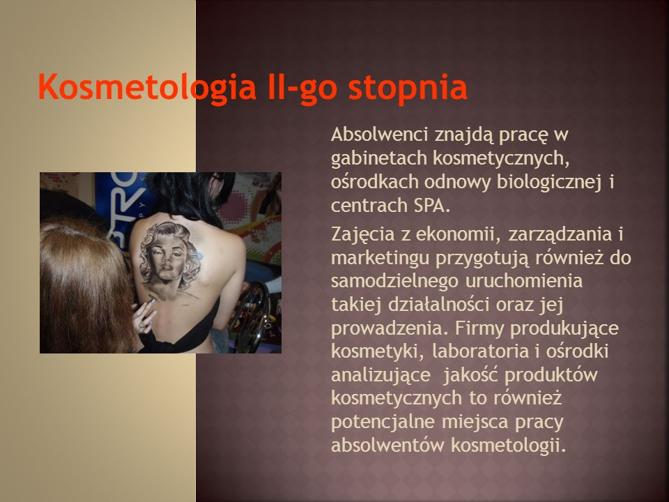 Kosmetologia II-go stopnia