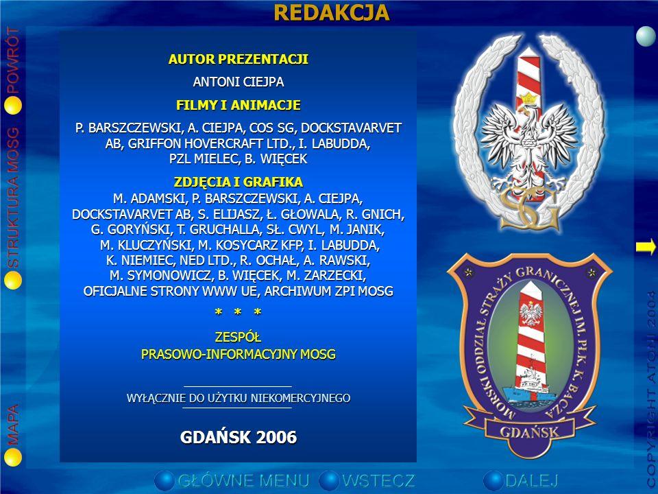 REDAKCJA GDAŃSK 2006 AUTOR PREZENTACJI ANTONI CIEJPA FILMY I ANIMACJE