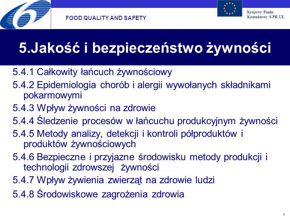 5.Jakość i bezpieczeństwo żywności