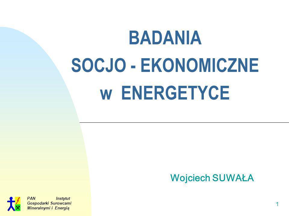 BADANIA SOCJO - EKONOMICZNE w ENERGETYCE
