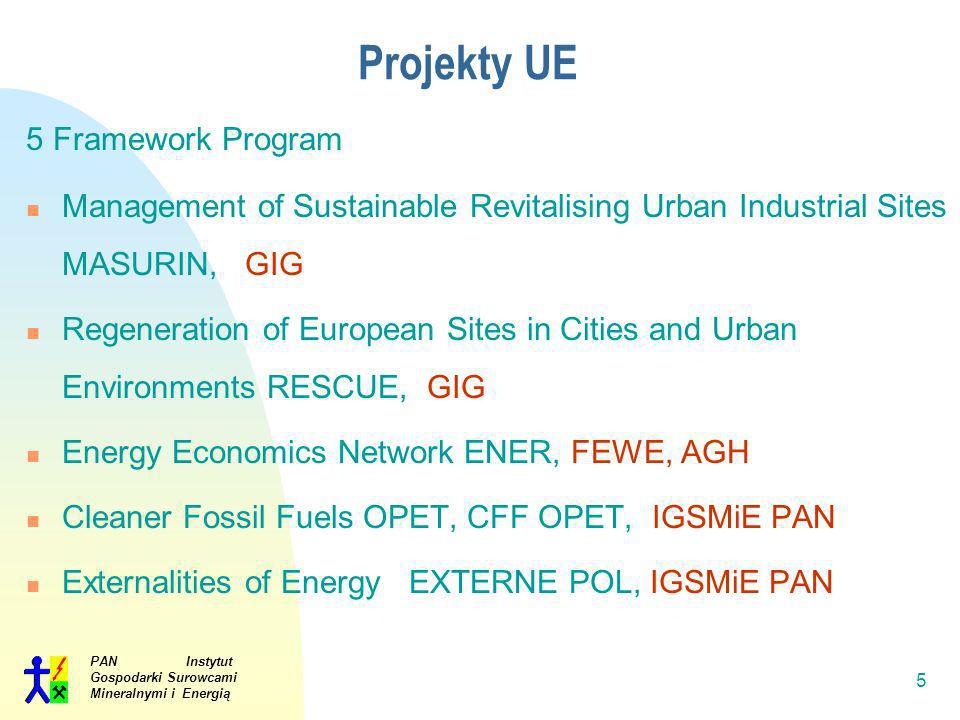Projekty UE 5 Framework Program