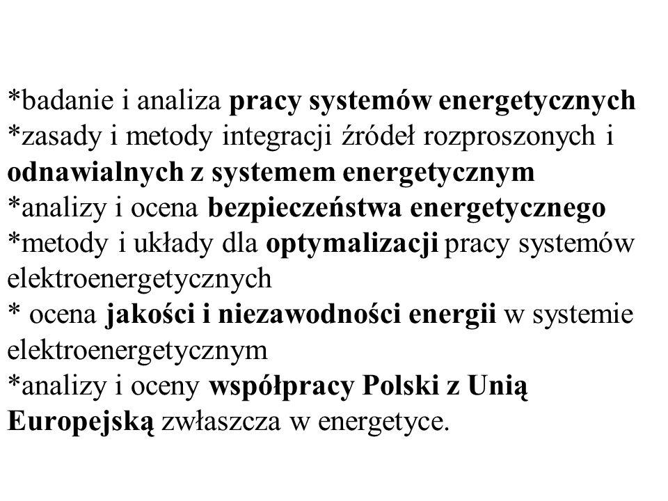 badanie i analiza pracy systemów energetycznych