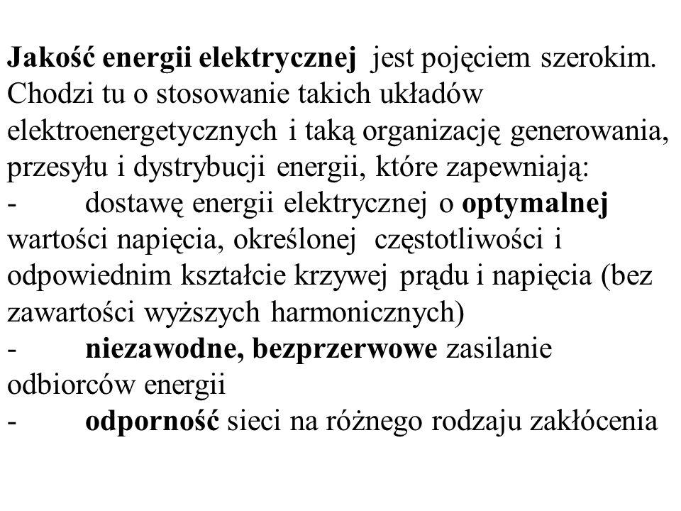 Jakość energii elektrycznej jest pojęciem szerokim