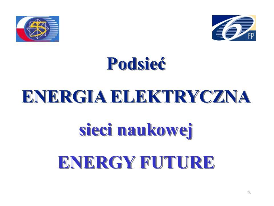 Podsieć ENERGIA ELEKTRYCZNA sieci naukowej ENERGY FUTURE