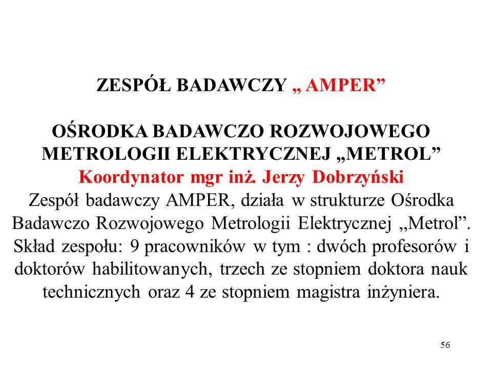 """ZESPÓŁ BADAWCZY """" AMPER"""