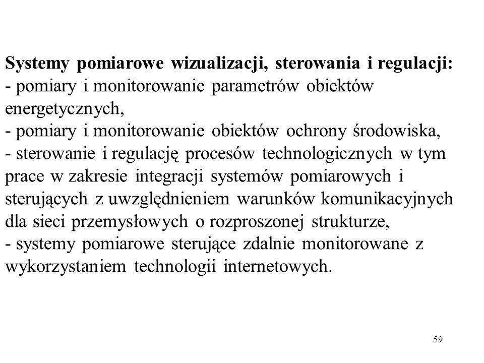 Systemy pomiarowe wizualizacji, sterowania i regulacji: