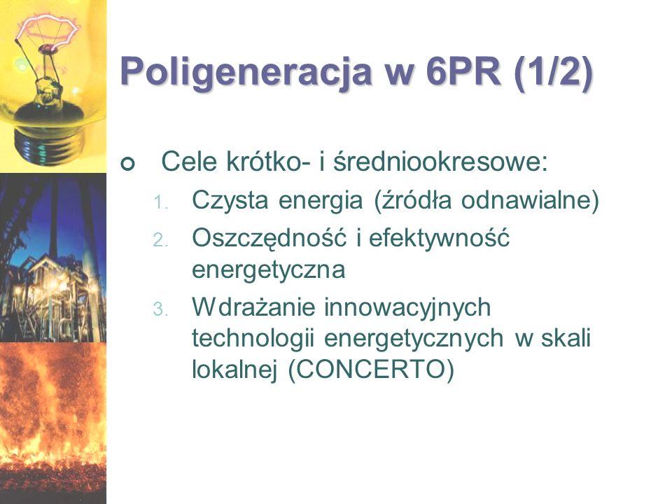 Poligeneracja w 6PR (1/2) Cele krótko- i średniookresowe: