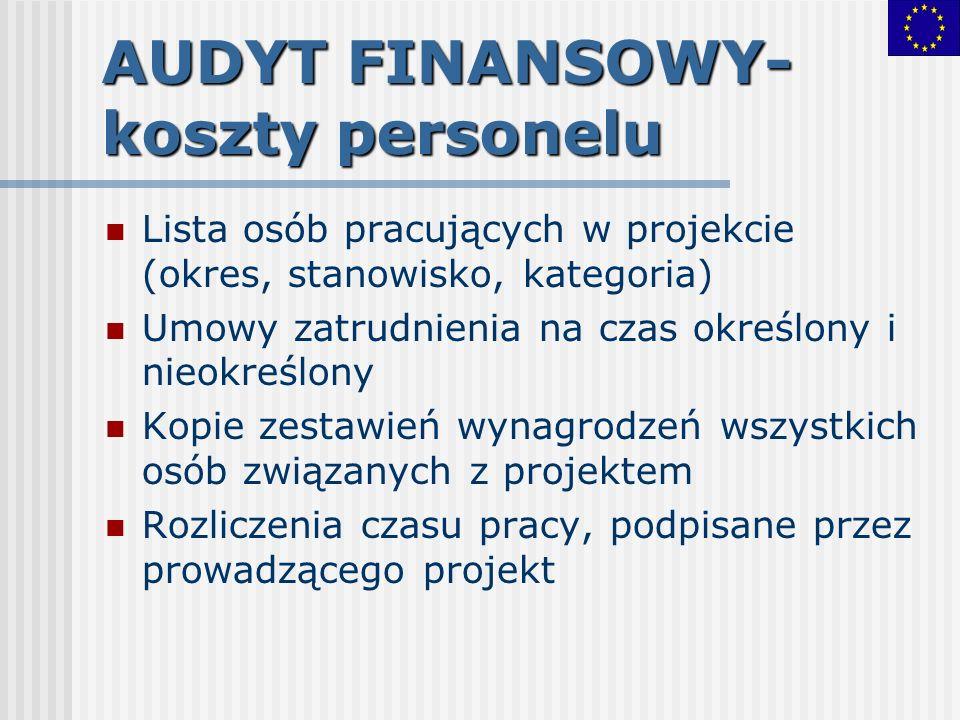 AUDYT FINANSOWY-koszty personelu
