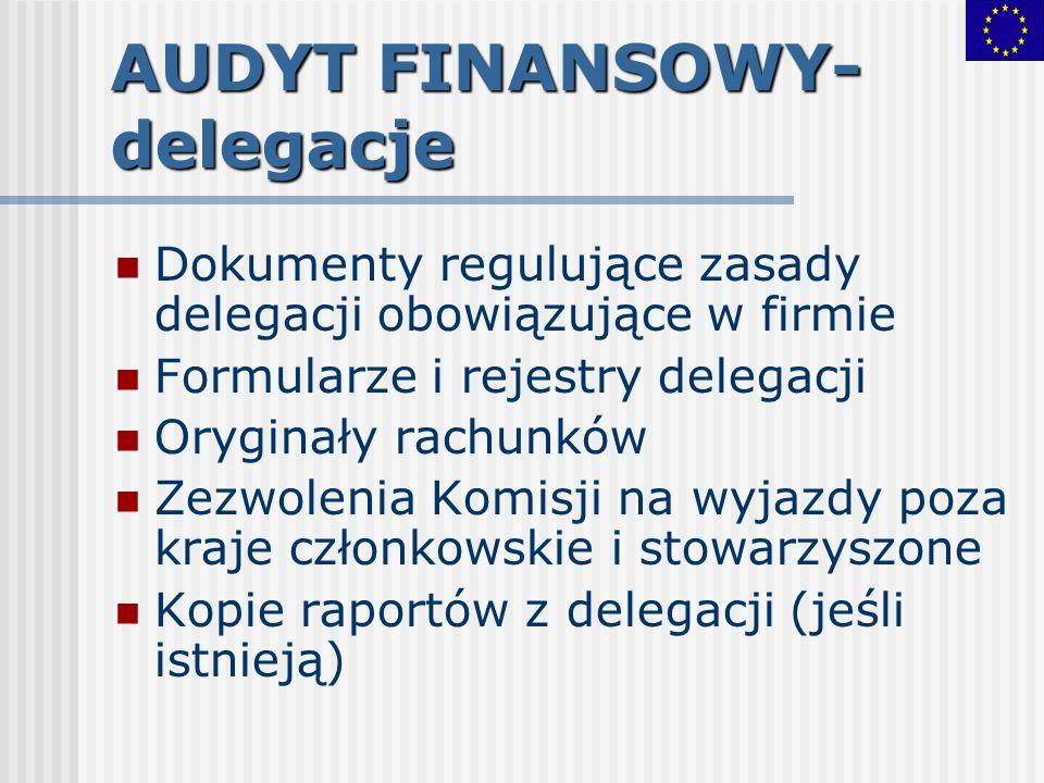 AUDYT FINANSOWY-delegacje