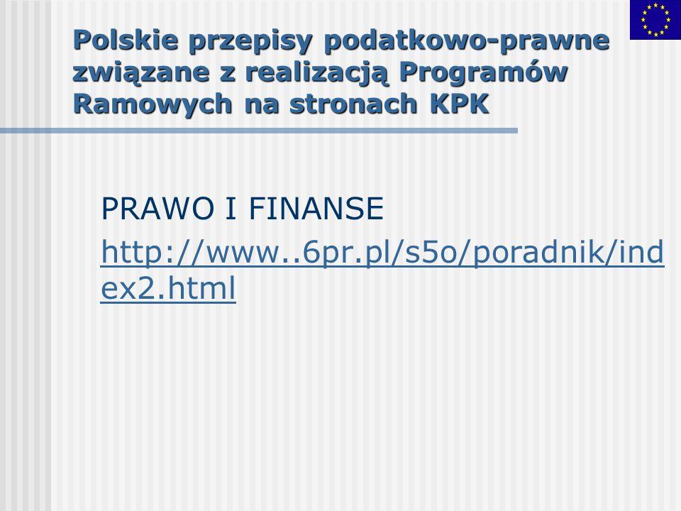 PRAWO I FINANSE http://www..6pr.pl/s5o/poradnik/index2.html