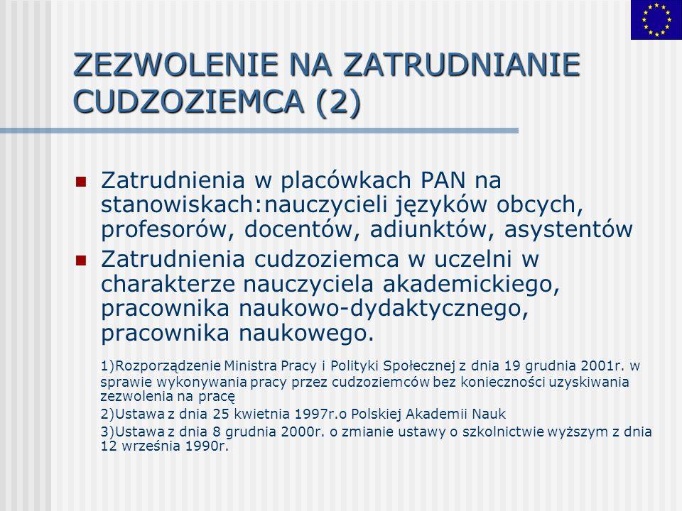 ZEZWOLENIE NA ZATRUDNIANIE CUDZOZIEMCA (2)