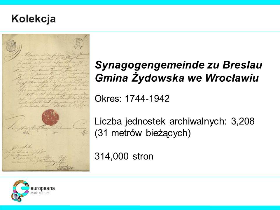 Synagogengemeinde zu Breslau Gmina Żydowska we Wrocławiu