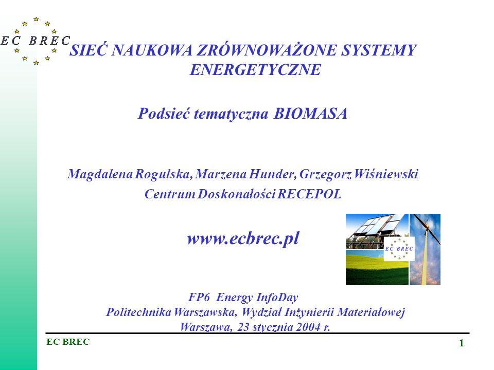 www.ecbrec.pl SIEĆ NAUKOWA ZRÓWNOWAŻONE SYSTEMY ENERGETYCZNE