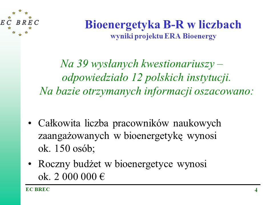 Bioenergetyka B-R w liczbach wyniki projektu ERA Bioenergy
