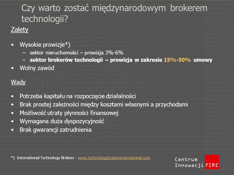Czy warto zostać międzynarodowym brokerem technologii