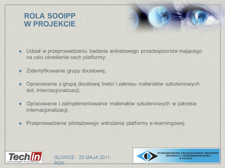 ROLA SOOIPP W PROJEKCIE