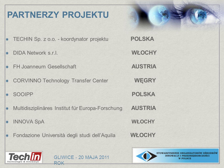 PARTNERZY PROJEKTU TECHIN Sp. z o.o. - koordynator projektu POLSKA