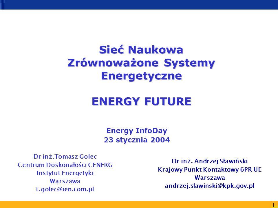 Sieć Naukowa Zrównoważone Systemy Energetyczne ENERGY FUTURE