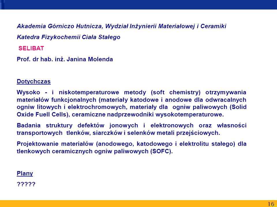 Akademia Górniczo Hutnicza, Wydział Inżynierii Materiałowej i Ceramiki