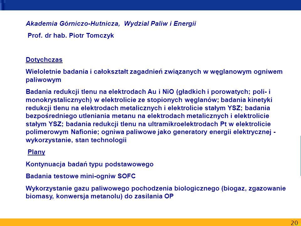 Akademia Górniczo-Hutnicza, Wydzial Paliw i Energii
