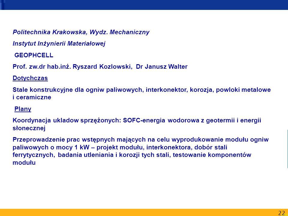 Politechnika Krakowska, Wydz. Mechaniczny