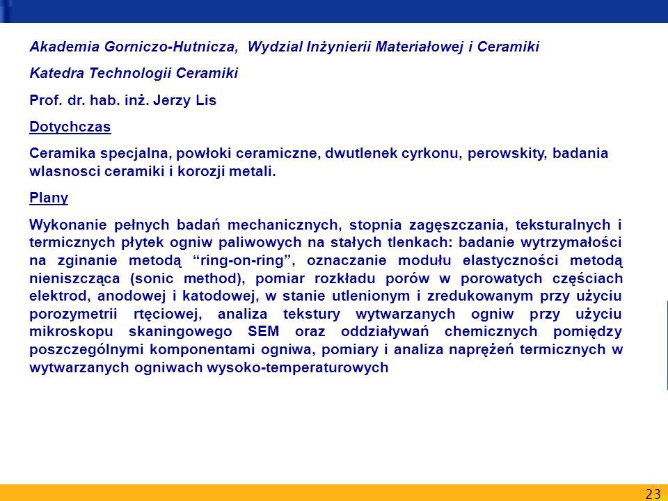 Akademia Gorniczo-Hutnicza, Wydzial Inżynierii Materiałowej i Ceramiki