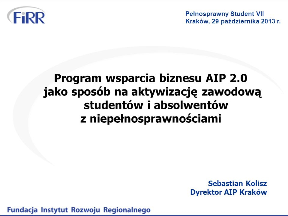 Program wsparcia biznesu AIP 2.0