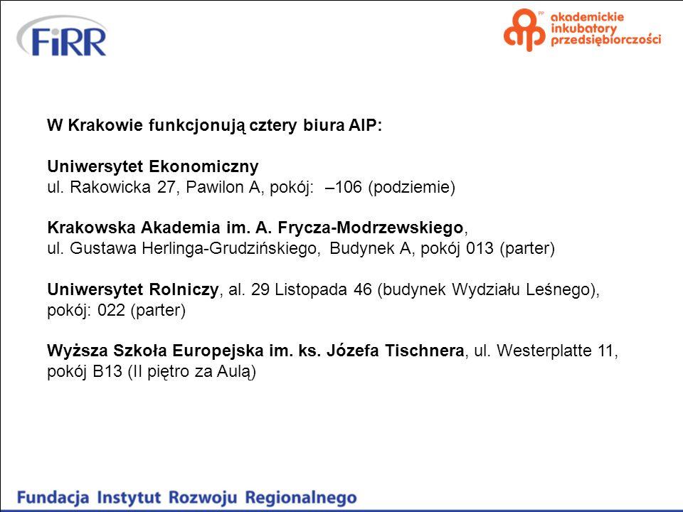 W Krakowie funkcjonują cztery biura AIP: