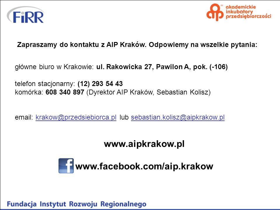 www.aipkrakow.pl www.facebook.com/aip.krakow